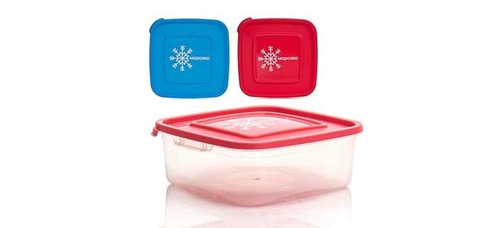 Контейнеры для еды Полимербыт Контейнер для замораживания продуктов 0.7 л контейнер для продуктов 4 6 л gipfel fresh on 4806