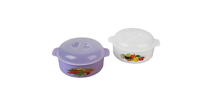 Посуда и инвентарь Полимербыт Кастрюля для СВЧ 2.1 л посуда для приготовления пищи