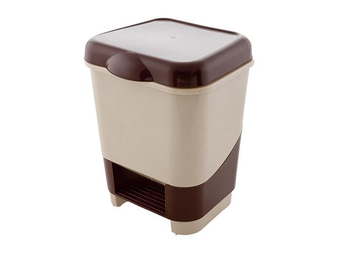 Хозяйственные товары Полимербыт Контейнер для мусора с педалью 20 л контейнер пластиковый для мусора ese 120 л желтый