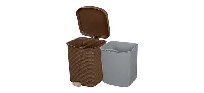 Хозяйственные товары Полимербыт Контейнер для мусора с педалью Артлайн 12 л контейнер пластиковый для мусора ese 120 л желтый