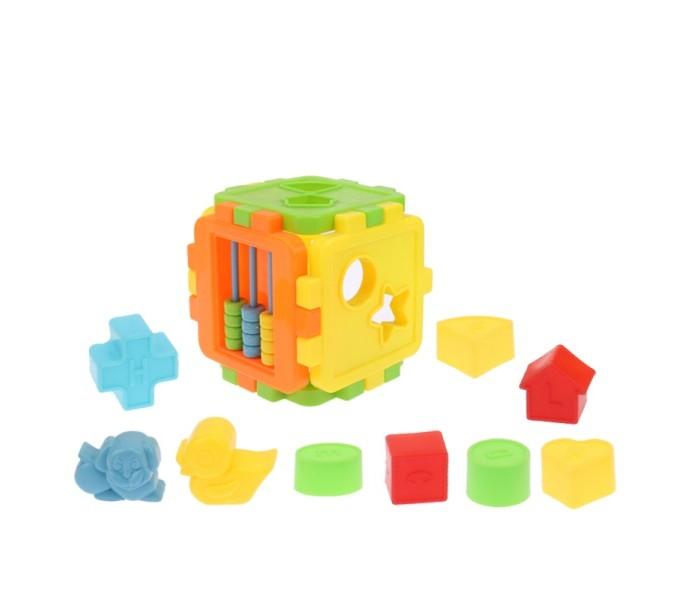 Сортеры S+S Toys Куб логический с фигурами и счетами сортеры orion toys куб малый