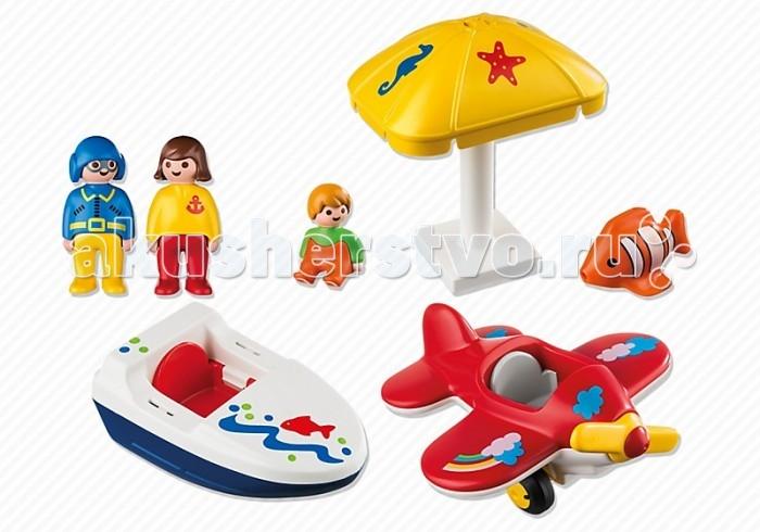 Конструкторы Playmobil 1.2.3. Веселые каникулы playmobil® в поисках приключений лодка с браконьерами playmobil