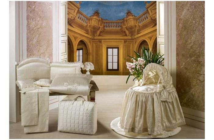 Постельные принадлежности , Одеяла BabyPiu Шелковые эмоции  Одеяло из ткани пике с вышивкой 75х90 для люльки арт: 9783 -  Одеяла