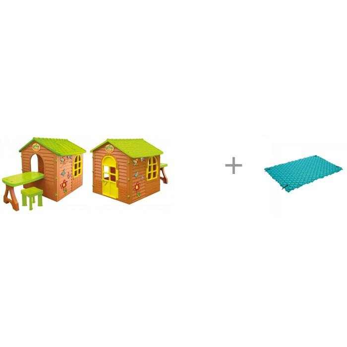 Mochtoys Игровой домик со столиком и стулом и надувной мат-ковер Intex 290х213 см