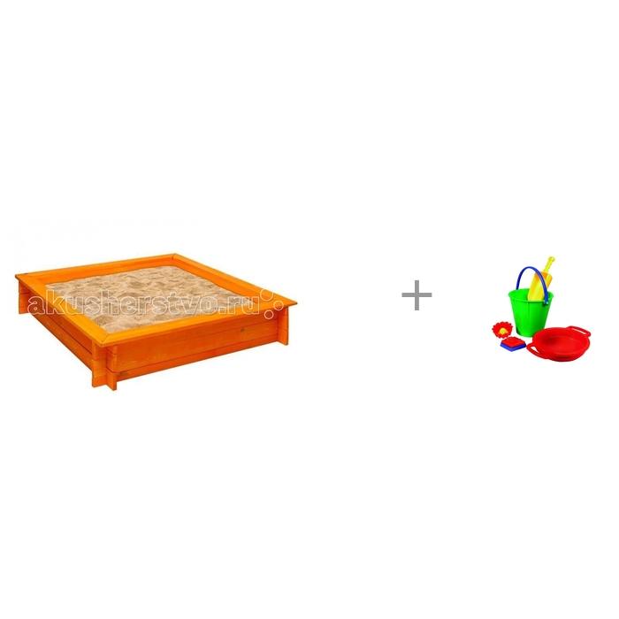 Картинка для Песочницы Paremo Песочница деревянная Афина и набор для песка Spielstabil