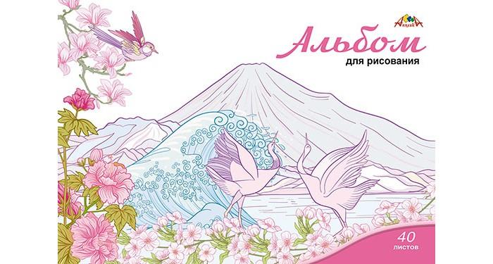Принадлежности для рисования Апплика Альбом для рисования Японский пейзаж А4 40 листов альбом для рисования апплика а4 40 листов