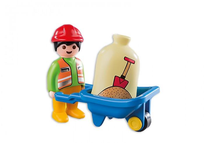 Конструкторы Playmobil 1.2.3. Строитель с тачкой конструкторы playmobil стройка строитель с отбойным молотком