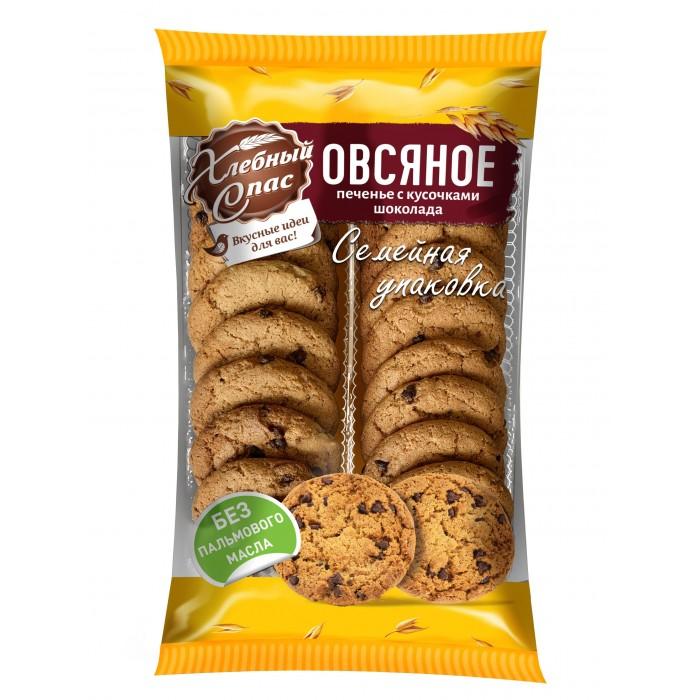 Печенье Хлебный спас Печенье сдобное овсяное с кусочками шоколада 500 г гарнец толокно овсяное 500 г