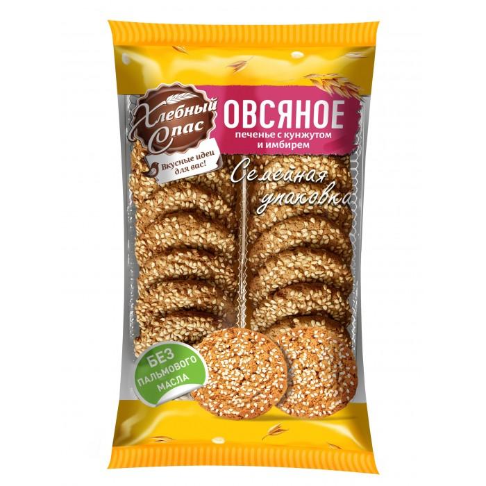 Печенье Хлебный спас Печенье сдобное овсяное с кунжутом и имбирём 470 г
