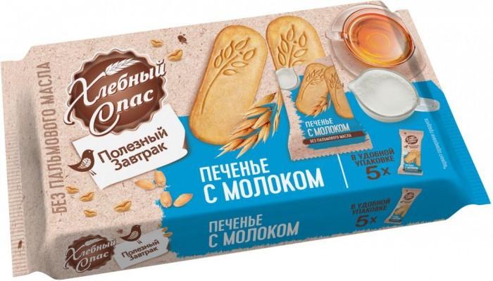 Печенье Хлебный спас Печенье Полезный завтрак с молоком 160 г