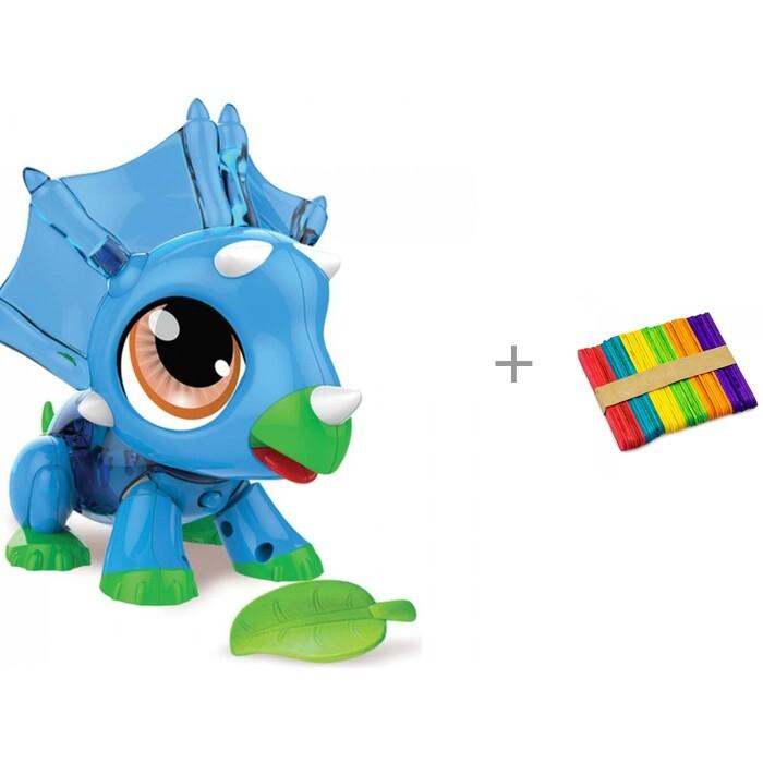 Интерактивная игрушка 1 Toy РобоЛайф Динозаврик и деревянная игрушка Alatoys Палочки для счета 92 мм РобоЛайф Динозаврик и деревянная игрушка Alatoys Палочки для сче