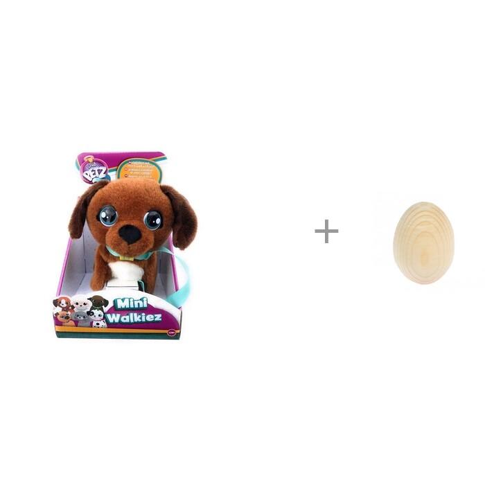 Интерактивная игрушка IMC toys Club Petz Щенок Mini Walkiez Chocolab и игрушка RNToys Яйцо под роспись