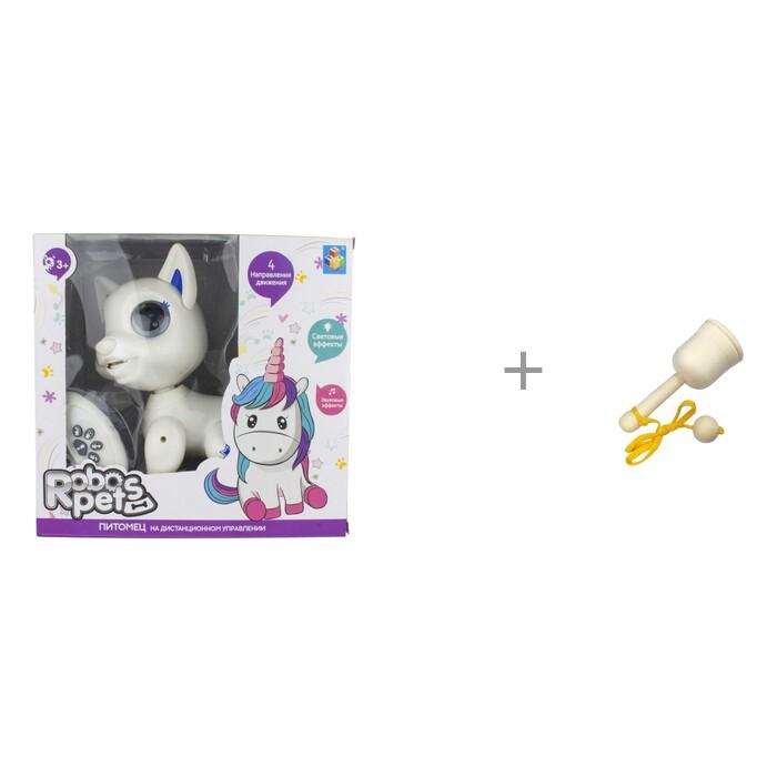 Картинка для Интерактивные игрушки 1 Toy Robo Pets Щенок и деревянная игрушка RNToys Поймай мяч