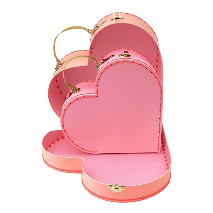 Детские чемоданы MeriMeri Набор чемоданов Сердца 2 шт.