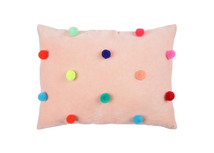 Подушки для малыша MeriMeri Подушка декоративная из вельвета Помпон декоративная подушка томдом подушка джойси