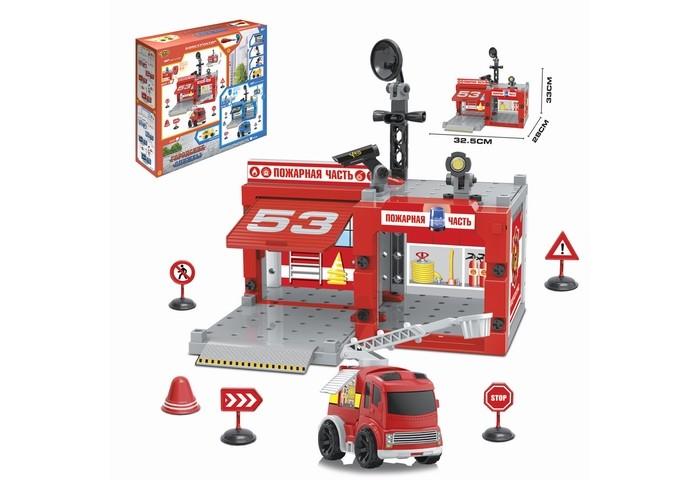 Конструкторы Ausini Паркинг Пожарная часть (67 деталей) маленький инженер пожарная часть интерактивный конструктор книга