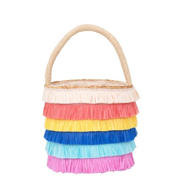 Сумки для детей MeriMeri Плетеная сумка Рафия с бахромой
