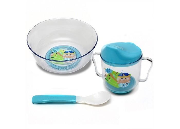 Посуда Бусинка Набор посуды: тарелка, ложка, поильник