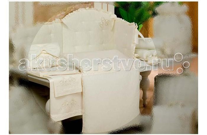 Бортик в кроватку BabyPiu Punto corallo мягкий бортик