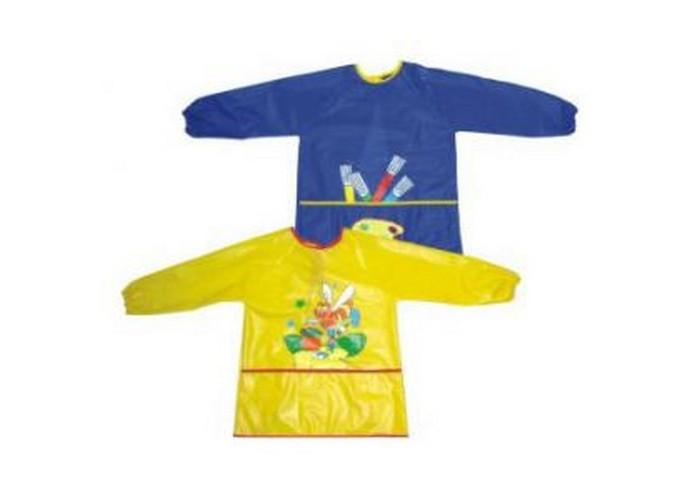 Нагрудники Бусинка клеенчатый с рукавами и карманом нагрудники бусинка на липучке с карманом