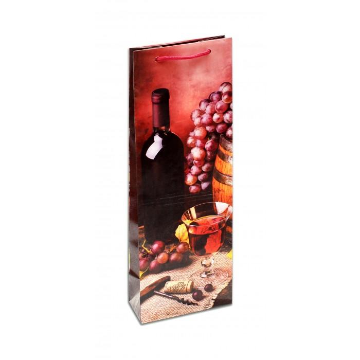 Товары для праздника Миленд Пакет подарочный ламинированный Розово-малиновое вино