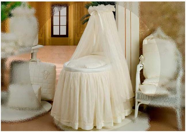Балдахин для кроватки BabyPiu Punto corallo - Балдахин д/кроватки с бантом и вышивкой