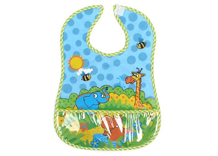 Нагрудники Бусинка на липучке с карманом Веселые животные нагрудники бусинка на липучке с карманом