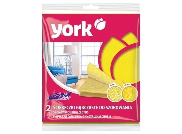 Хозяйственные товары York Салфетки Чистота и блеск 2 шт. мочалки jollein салфетки для купания 2 шт