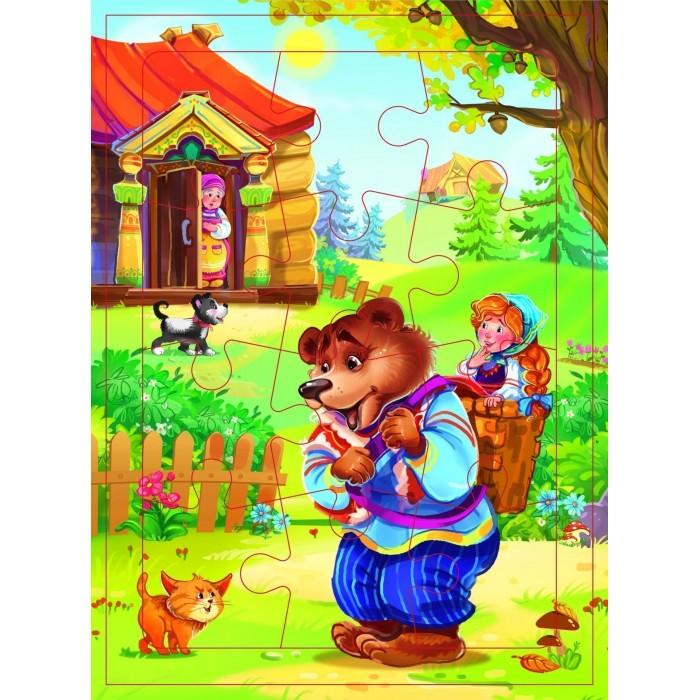 Фото - Пазлы Учитель Пазл Маша и Медведь (12 деталей) пазлы учитель пазл кот петух и лиса 12 деталей
