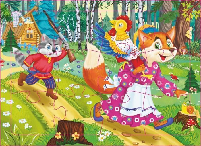 Фото - Пазлы Учитель Пазл Кот петух и лиса (12 деталей) кот лиса и петух лисичка сестричка и волк кот и лиса