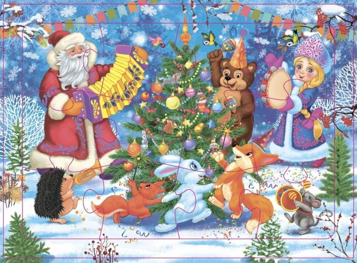Фото - Пазлы Учитель Пазл Новый год в лесу (12 деталей) пазлы учитель пазл кот петух и лиса 12 деталей