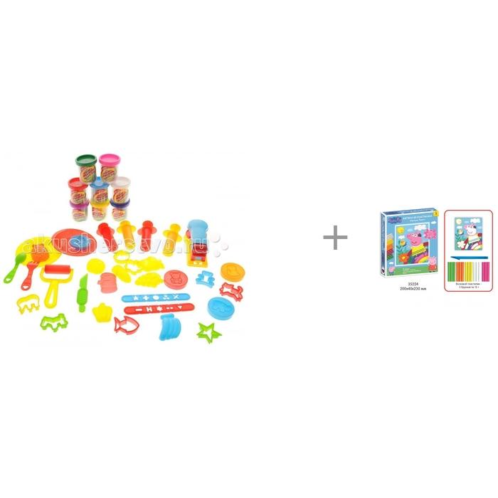 Bradex Креативный пластилин и Картина из пластилина Прогулка Пеппы