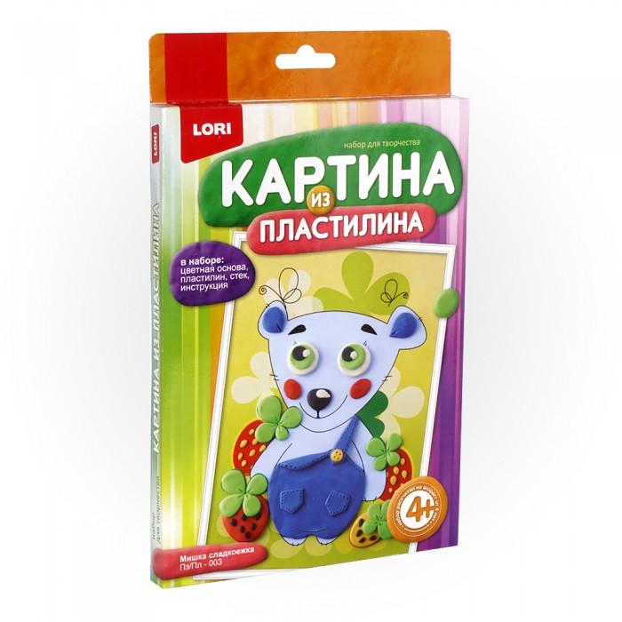 Картины пластилином Lori Картина из пластилина Мишка сладкоежка постеры кошка сладкоежка