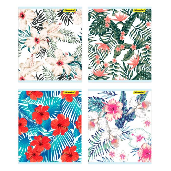 Тетради Silwerhof Тетрадь Цветы клетка A5 48 листов