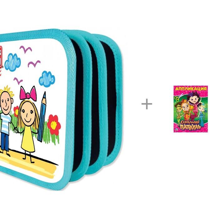 Раскраска Let's play Коврик-книжка с водными мелками и Аппликация для малышей Сказочный патруль.