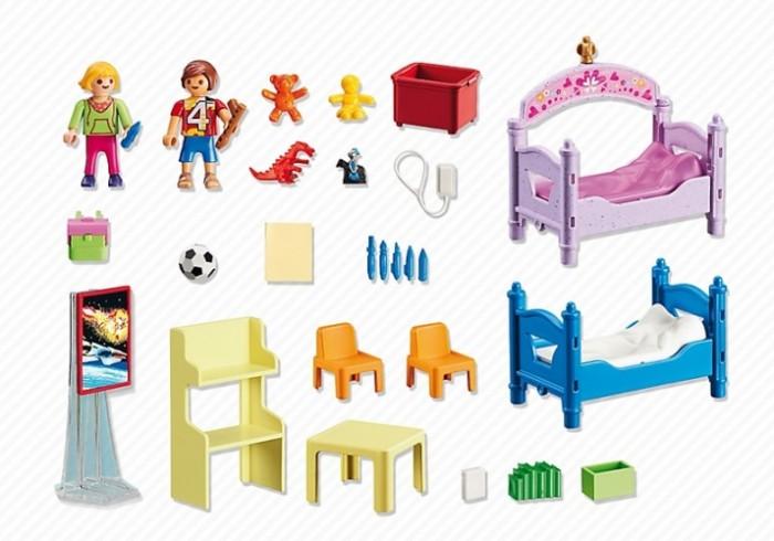 Конструкторы Playmobil Детская комната для 2-х детей playmobil игровой набор кукольный дом детская комната для 2 детей
