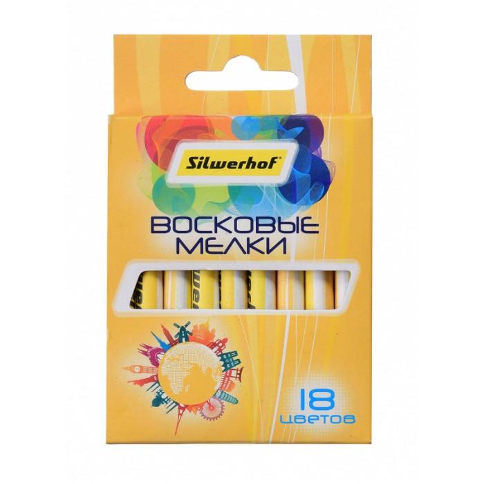 Карандаши, восковые мелки, пастель Silwerhof Восковые мелки Солнечная коллекция 18 цветов