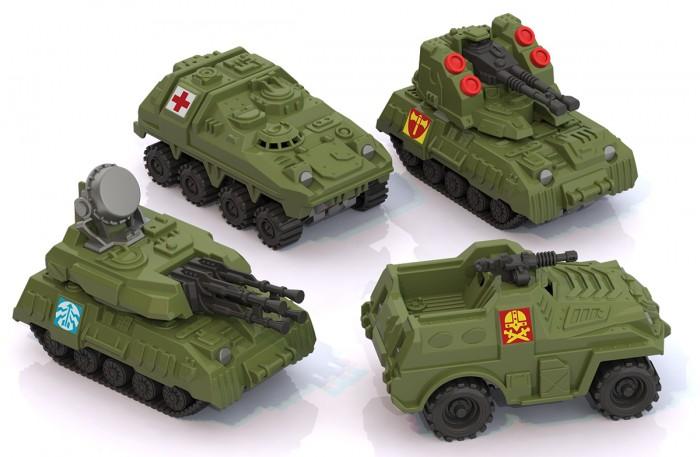 Машины Нордпласт Спецтехника-мини 4 шт. игрушка машинка нордпласт зенитная установка салют