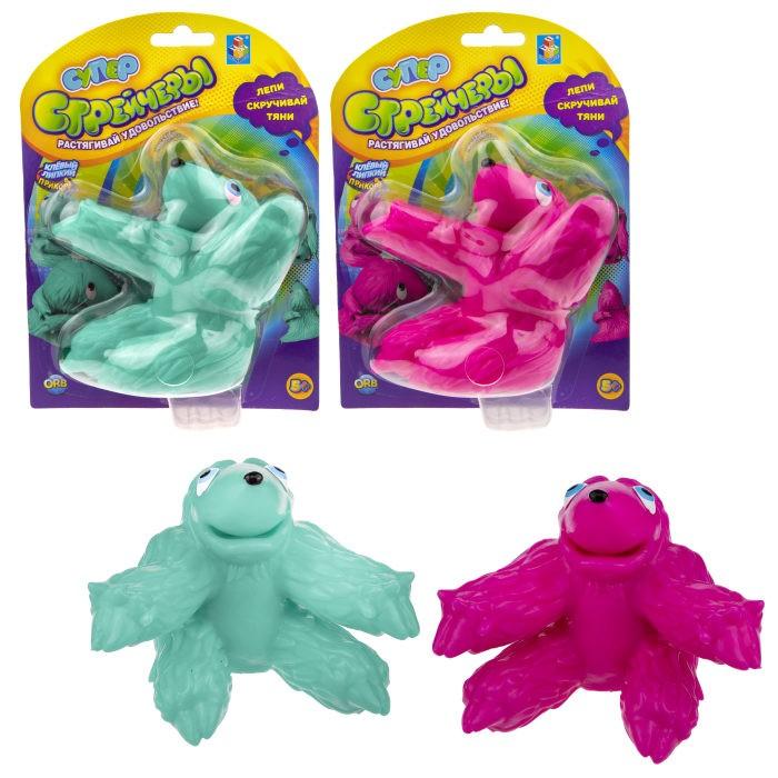 Купить Развивающие игрушки, Развивающая игрушка 1 Toy Супер Стрейчеры Липнивец 11 см