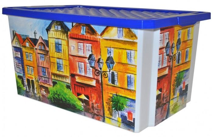Хозяйственные товары BranQ Ящик для хранения Х-box Город на роликах 57 л