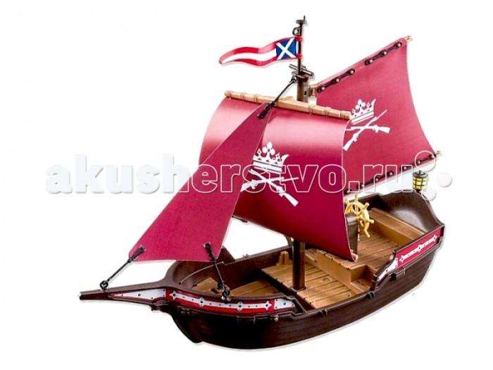 Конструктор Playmobil Солдатский патрульный корабльСолдатский патрульный корабльКонструктор Пираты Playmobil Солдатский патрульный корабль  Патрульный катер охраняет покой жителей города и готов в любую минуту вступить в бой с пиратами. На корабле есть стреляющие пушки и другое оружие, включая абордажные крюки.Корабль может плавать, также его можно оснастить мотором на пульте управления (арт. РМ 5536 продается отдельно). Пушки можно устанавливать по обеим сторонам корабля.  Размеры корабля: ДхШхВ 40х17х30 см<br>