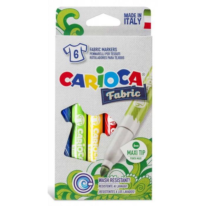 Фломастеры Carioca Фломастеры для ткани Cromex 6 цветов маркеры и фломастеры carioca 3044806 фломастеры 6 цветов carioca joy 2 6 мм в картонном конверте