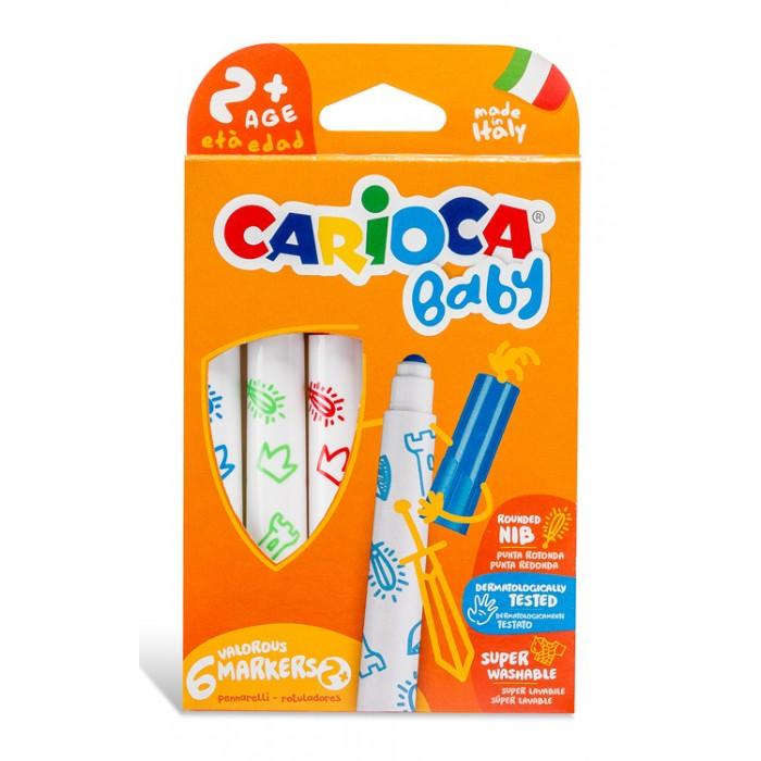 Фломастеры Carioca Фломастеры Baby 6 цветов 6 шт маркеры и фломастеры carioca 3044806 фломастеры 6 цветов carioca joy 2 6 мм в картонном конверте