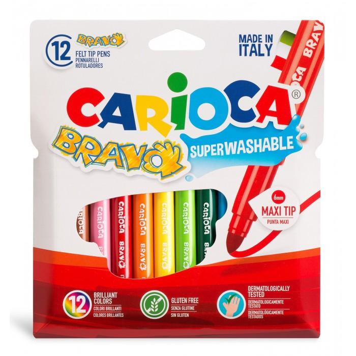 Фломастеры Carioca Фломастеры Bravo 6 мм 12 цветов маркеры и фломастеры carioca 3044806 фломастеры 6 цветов carioca joy 2 6 мм в картонном конверте