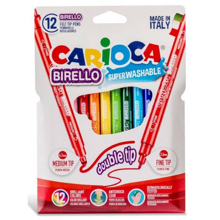 Фломастеры Carioca Фломастеры Birello 12 цветов маркеры и фломастеры carioca 3044806 фломастеры 6 цветов carioca joy 2 6 мм в картонном конверте