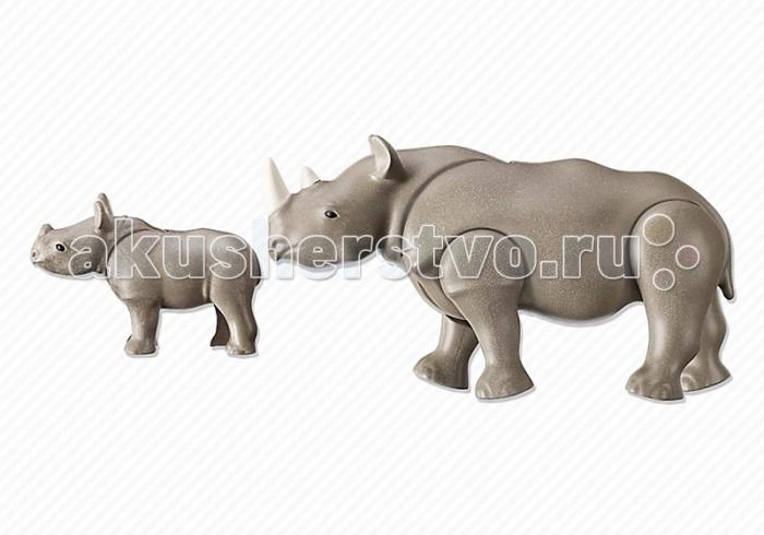 Конструкторы Playmobil Носорог с носорожком playmobil® зоопарк стая фламинго playmobil