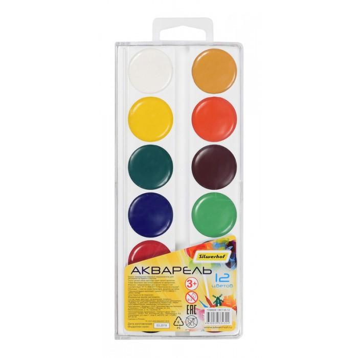 Краски Silwerhof Краски акварельные Солнечная коллекция 12 цветов краски луч престиж 18 цветов без кисти акварельные