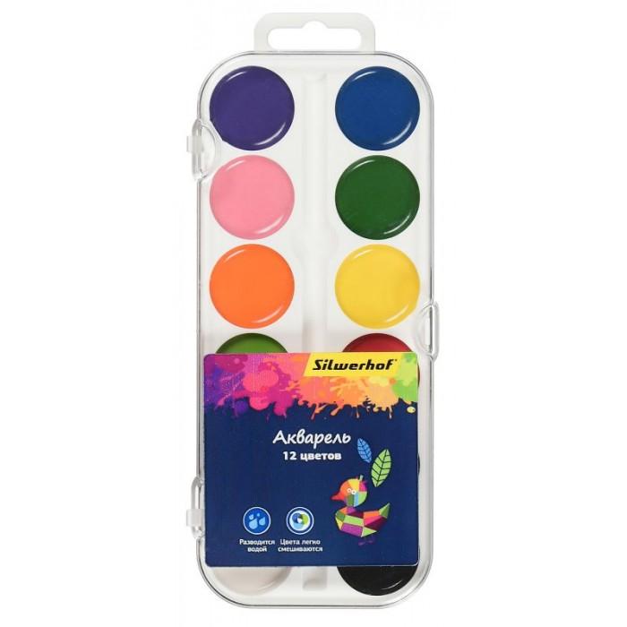 Краски Silwerhof Краски акварельные Цветландия 12 цветов краски луч престиж 18 цветов без кисти акварельные