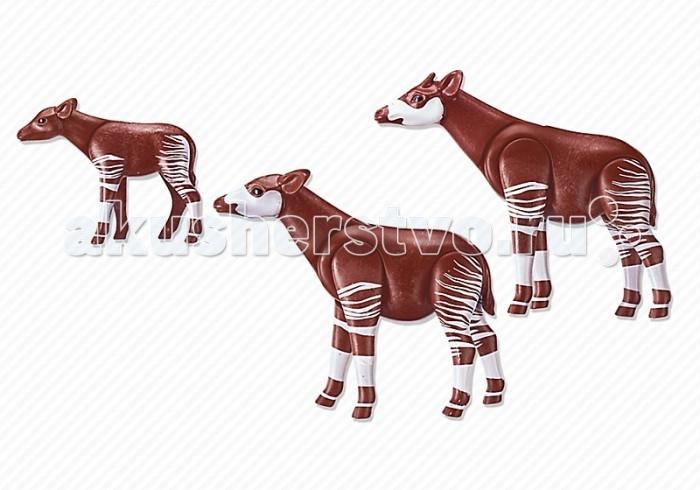Конструкторы Playmobil Семья Окапи playmobil® зоопарк семья тигров playmobil