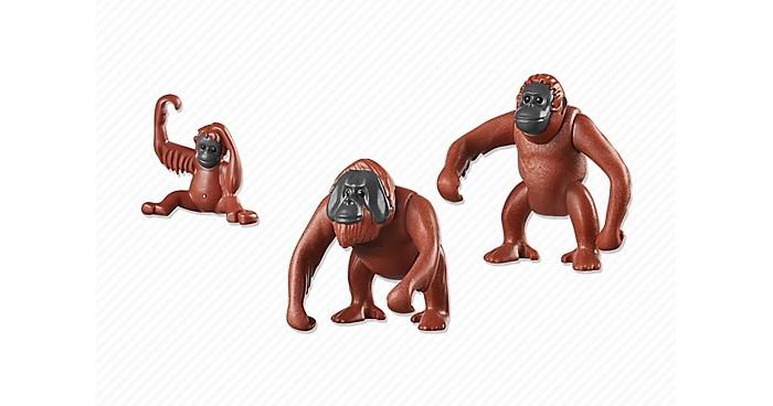 Конструкторы Playmobil Семья Орангутангов фигурки игрушки playmobil зоопарк стая фламинго